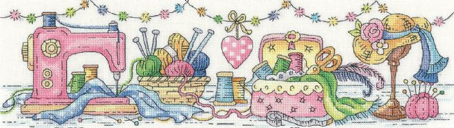 Heritage Crafts Karen Carter Collection Cross Stitch Kit - The Sewing Room